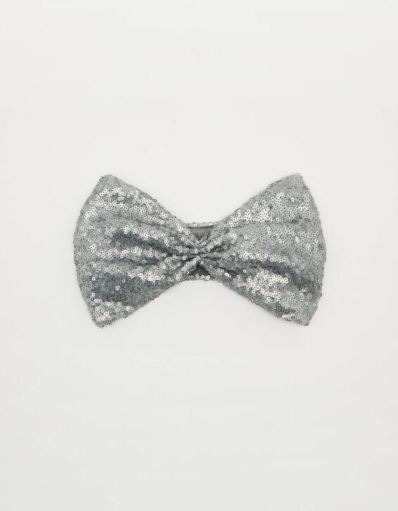 Silbernes Kopfband mit Stoffverzierung