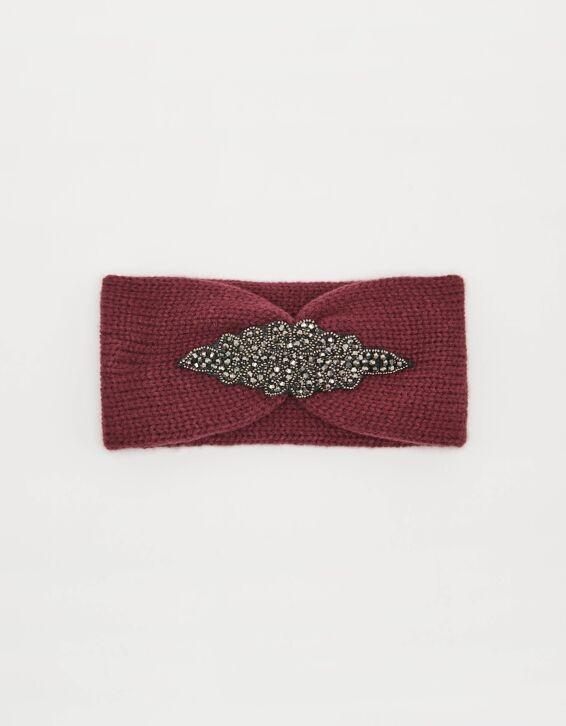 Strick-Kopfband mit Perlen