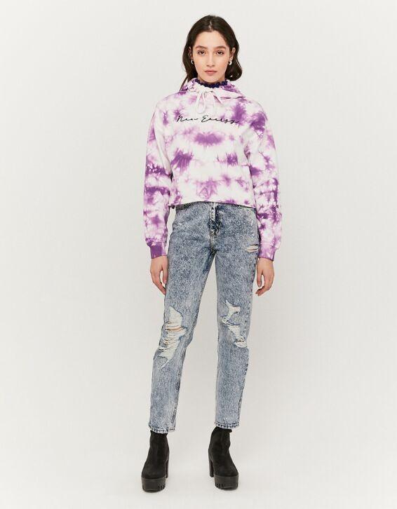Lila Tie & Dye Sweatshirt