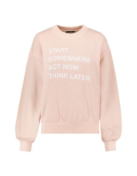 Hellpinkes Sweatshirt mit Aufdruck