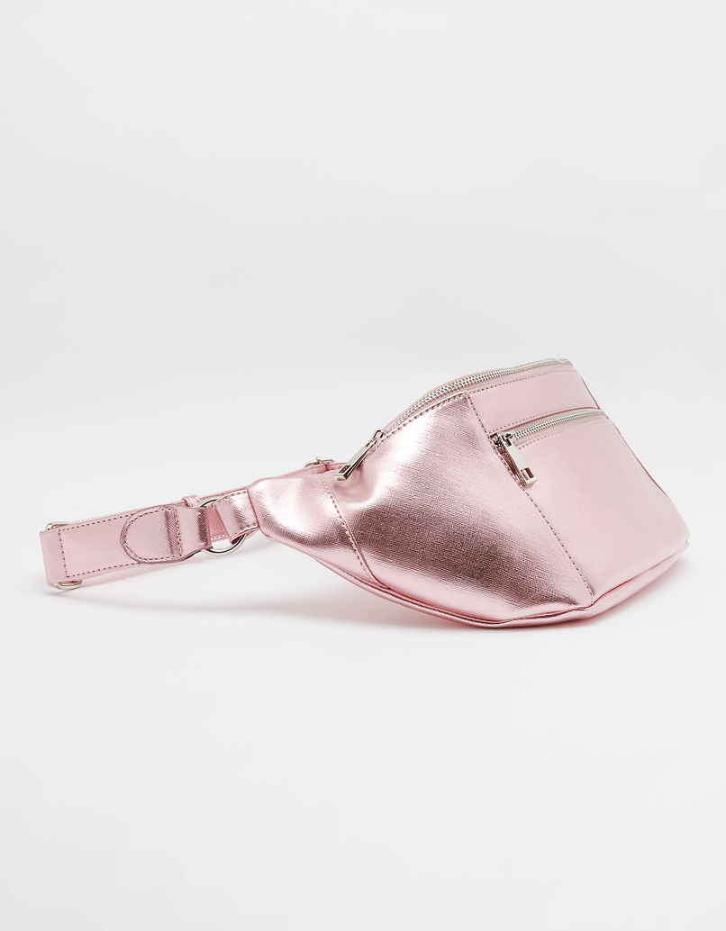 Belt Bag in Mettalic Pink