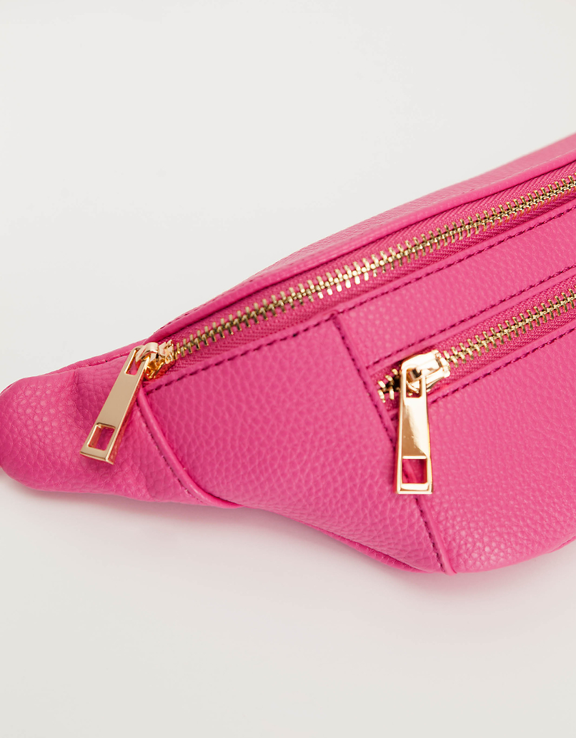 Pink Belt Bag with Chain Detail