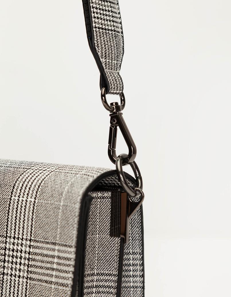 Checked Crossbody Bag