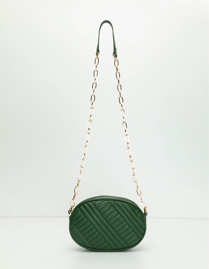 Bottle Green Cross Body Bag