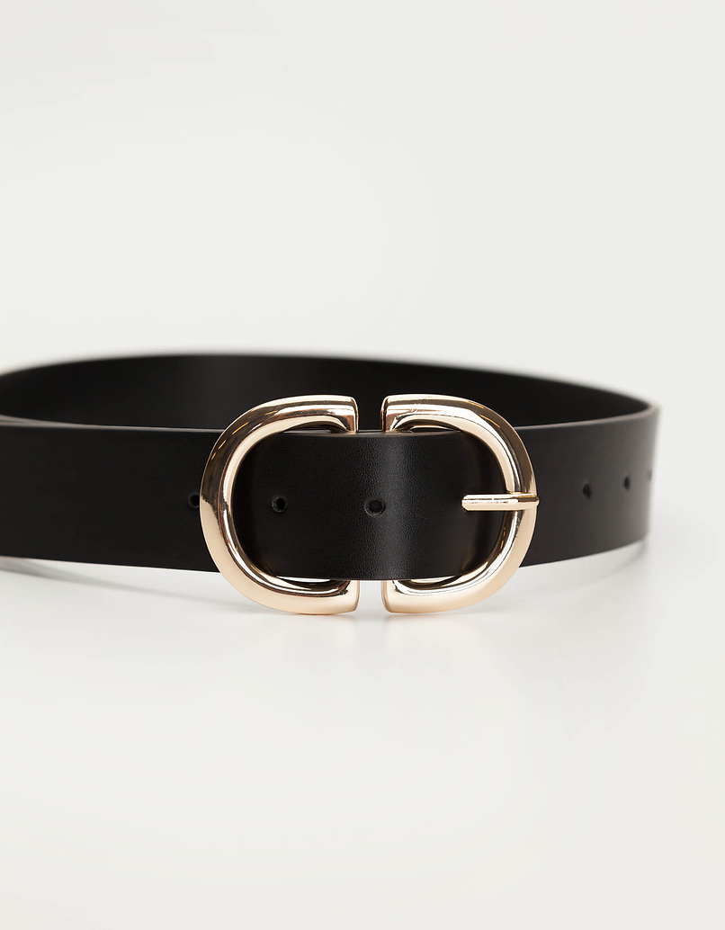 Double D Golden Buckle Belt