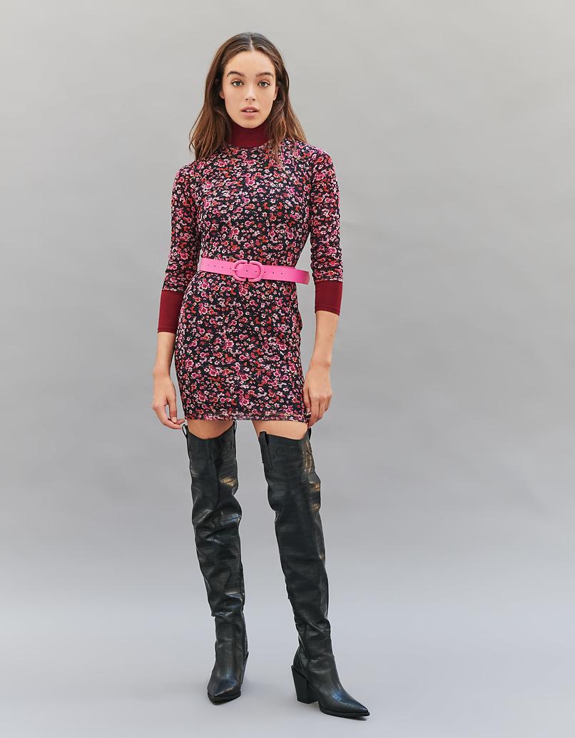 Double D Buckle Pink Belt