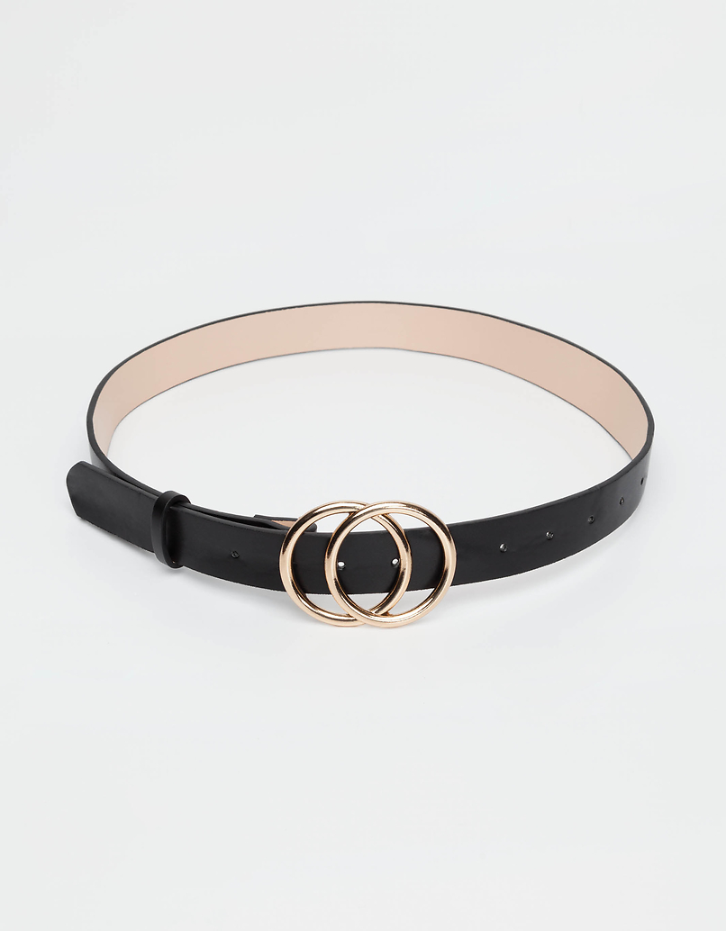 Black Double Circle Belt