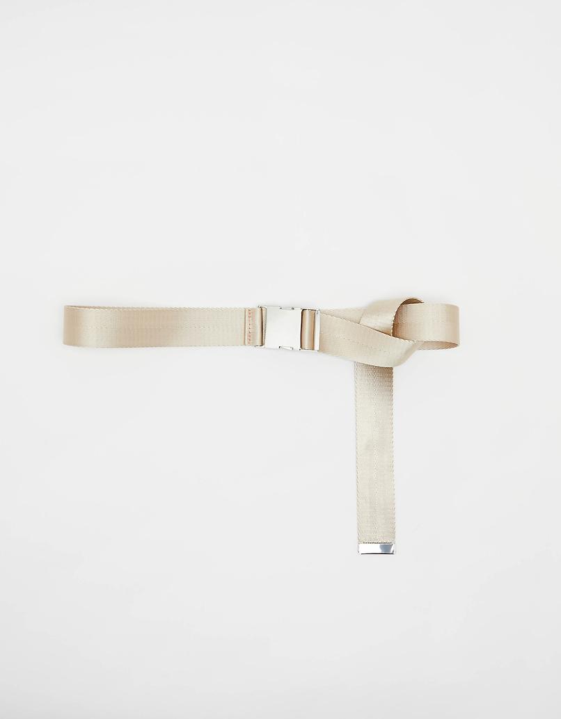 Beige Safety Buckle-style Belt