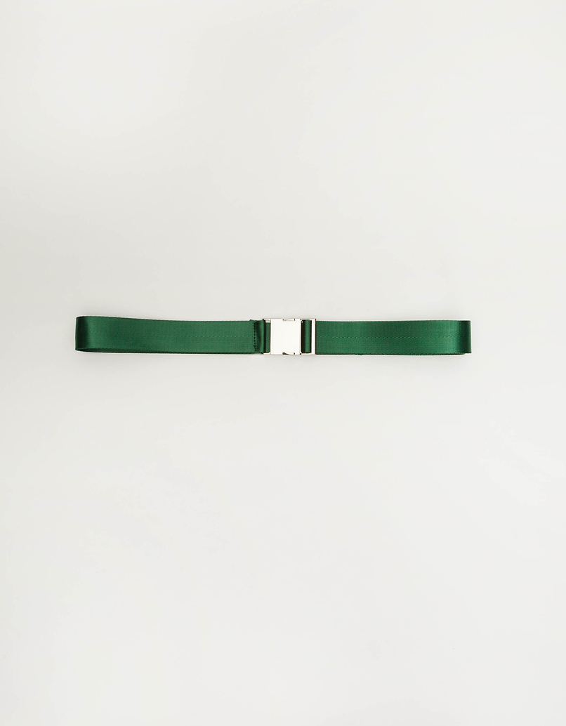 Green Safety Buckle-style Belt