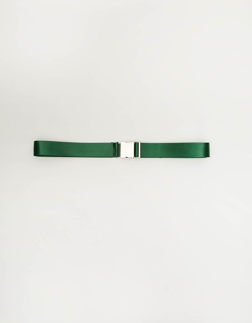 Grüner Gürtel mit Schnallenverschluss