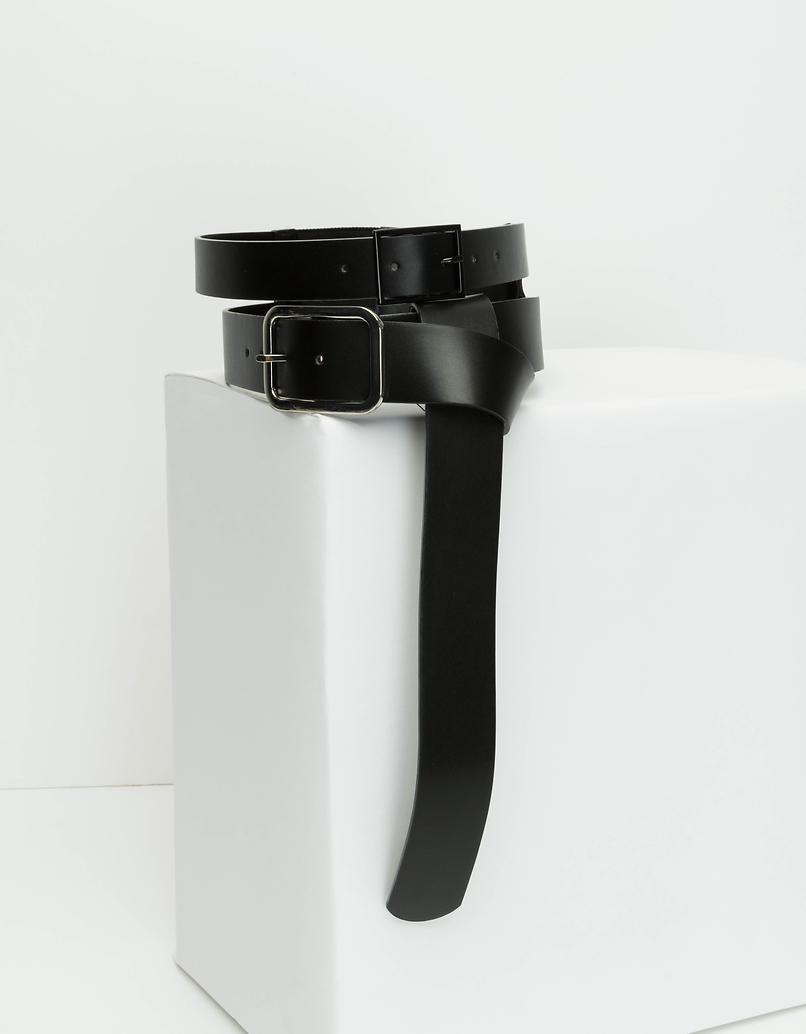 Doppelter Taillengürtel aus Kunstleder