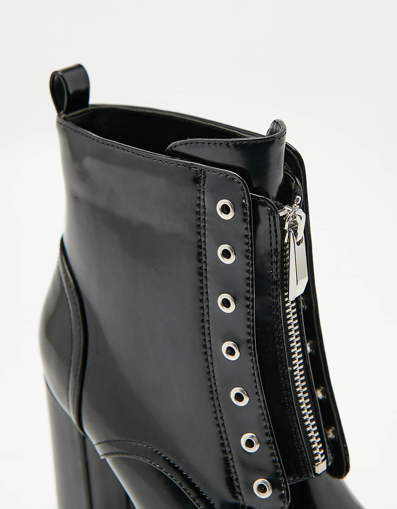 Chunky High Heeled Ankle Boots