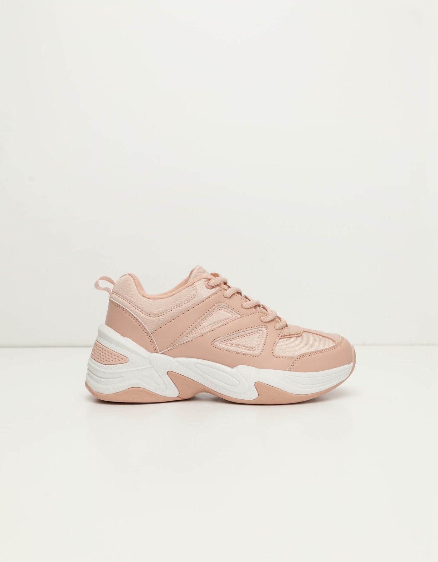 Pink Lace Up Trainers