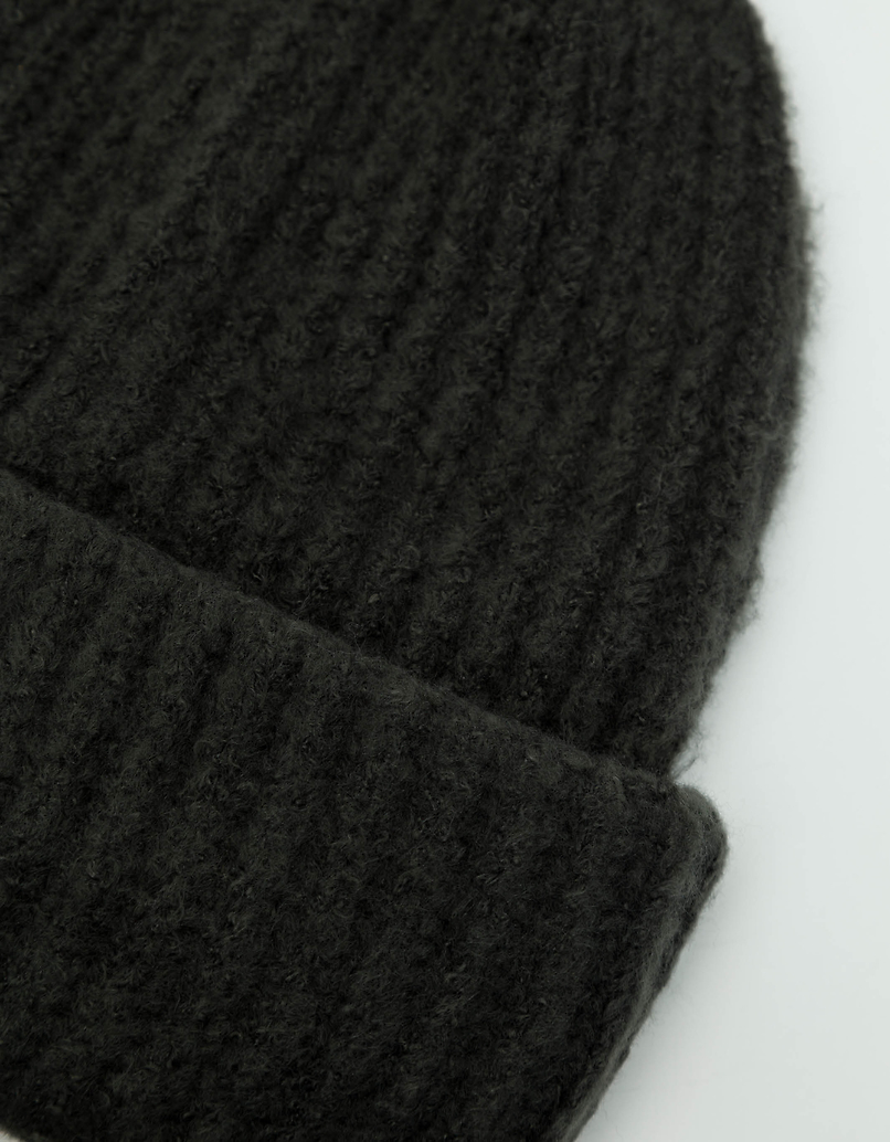 Green Ribbed Knit Beanie