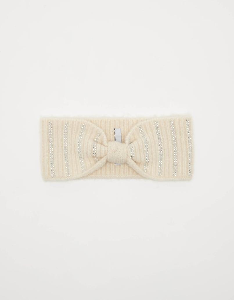 Rib-Knit Headband with Strass