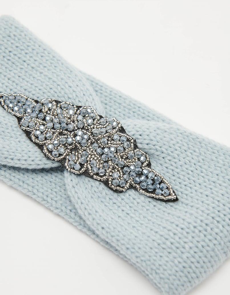 Beads Embellished Knit Headband