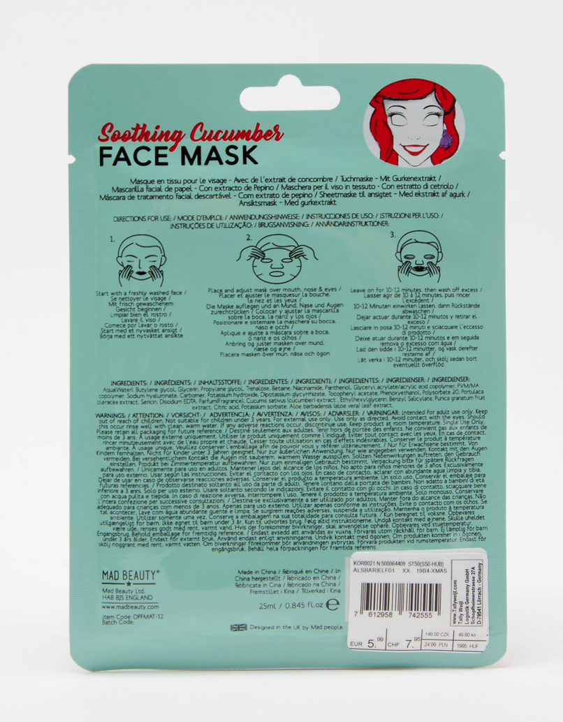 Mad Beauty Disney Ariele Sheet Face Mask