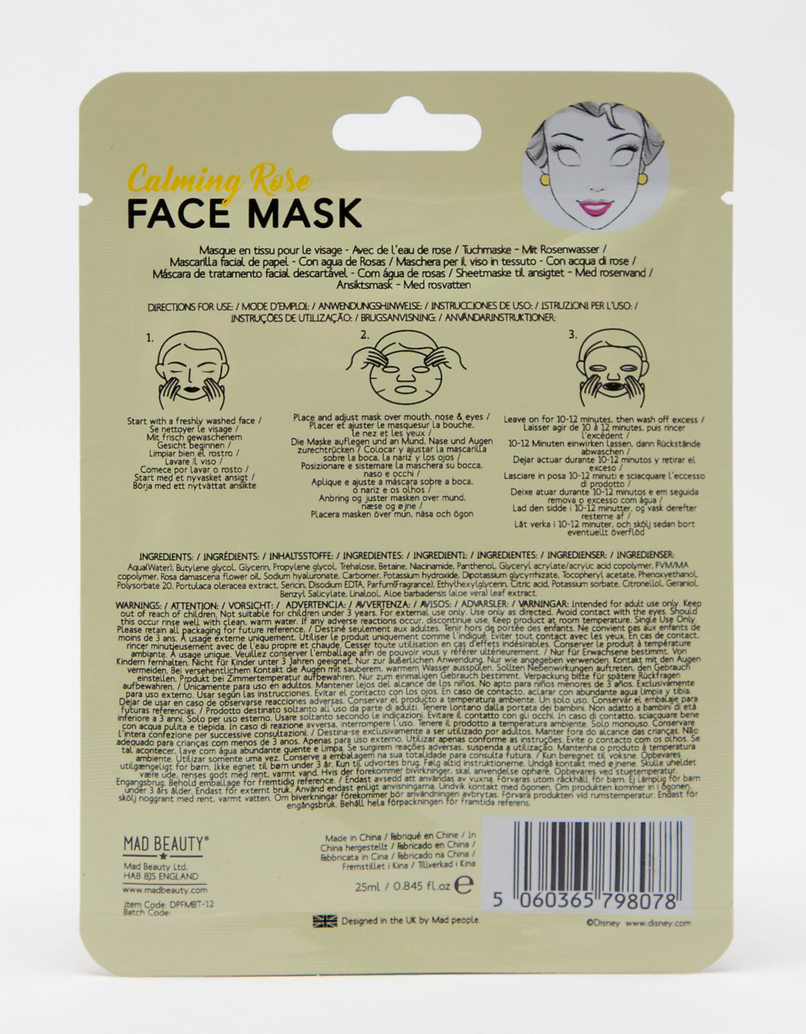 Mad Beauty Disney Belle Sheet Face Mask