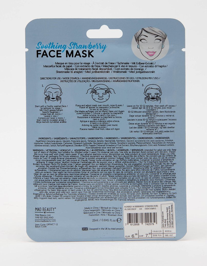Mad Beauty Disney Cindrella Sheet Face Mask