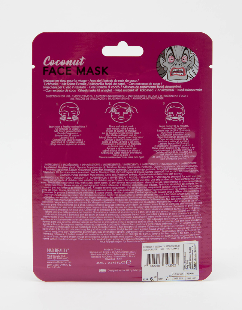 Mad Beauty Disney Cruel Sheet Face Mask