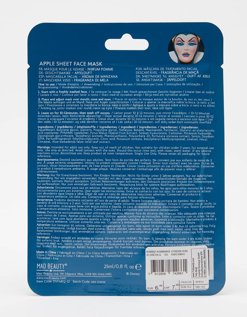 Mad Beauty Disney Evil Queen Sheet Face Mask