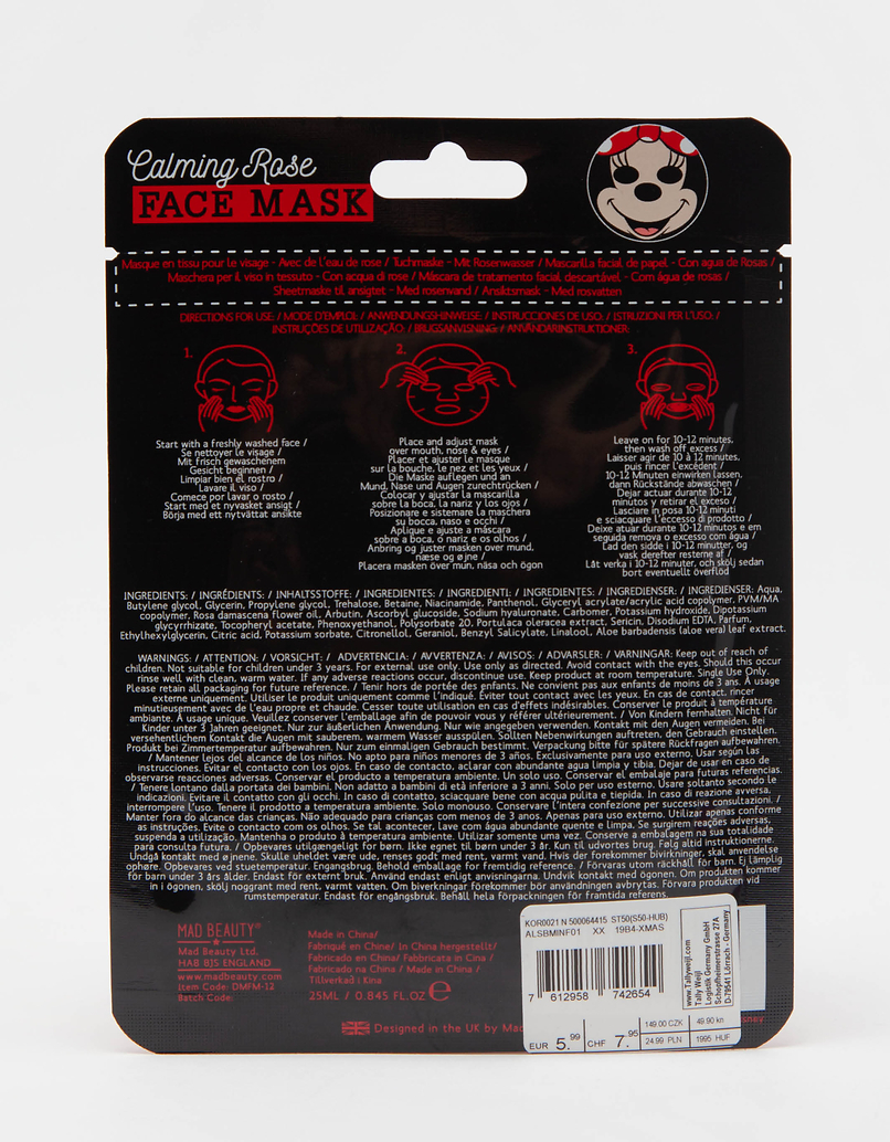 Mad Beauty Disney Minnie Sheet Face Mask