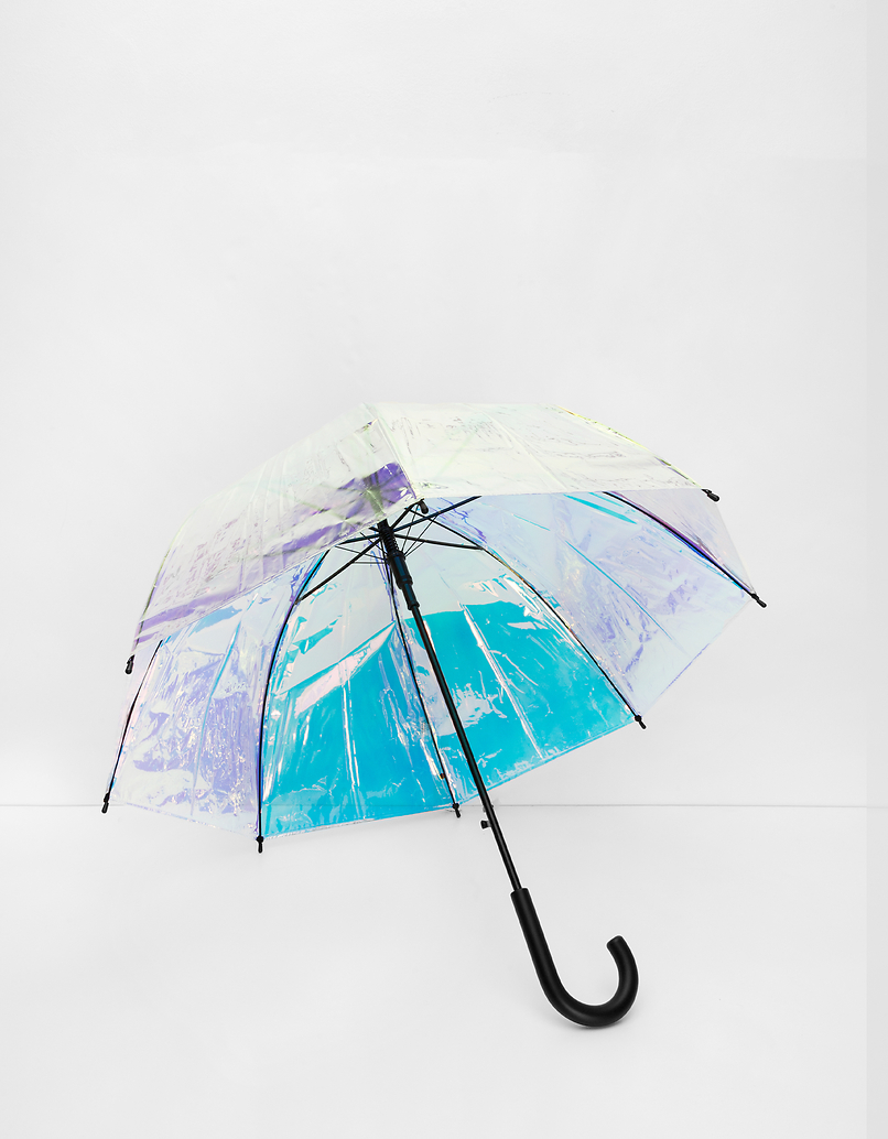 Iridescent Clear Umbrella