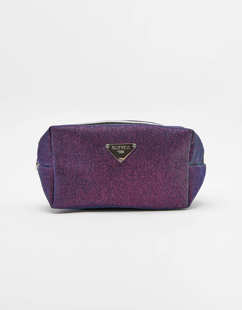 Purple Glitter Make up Bag
