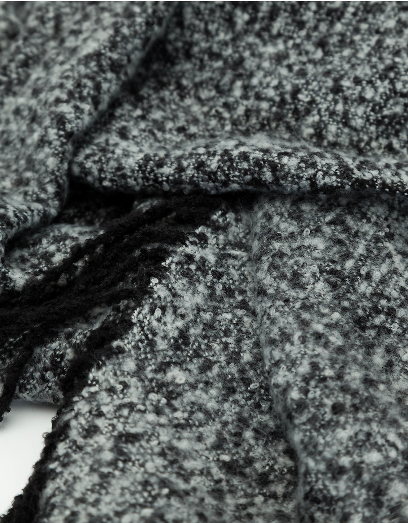 Grey Scarf with Tassels