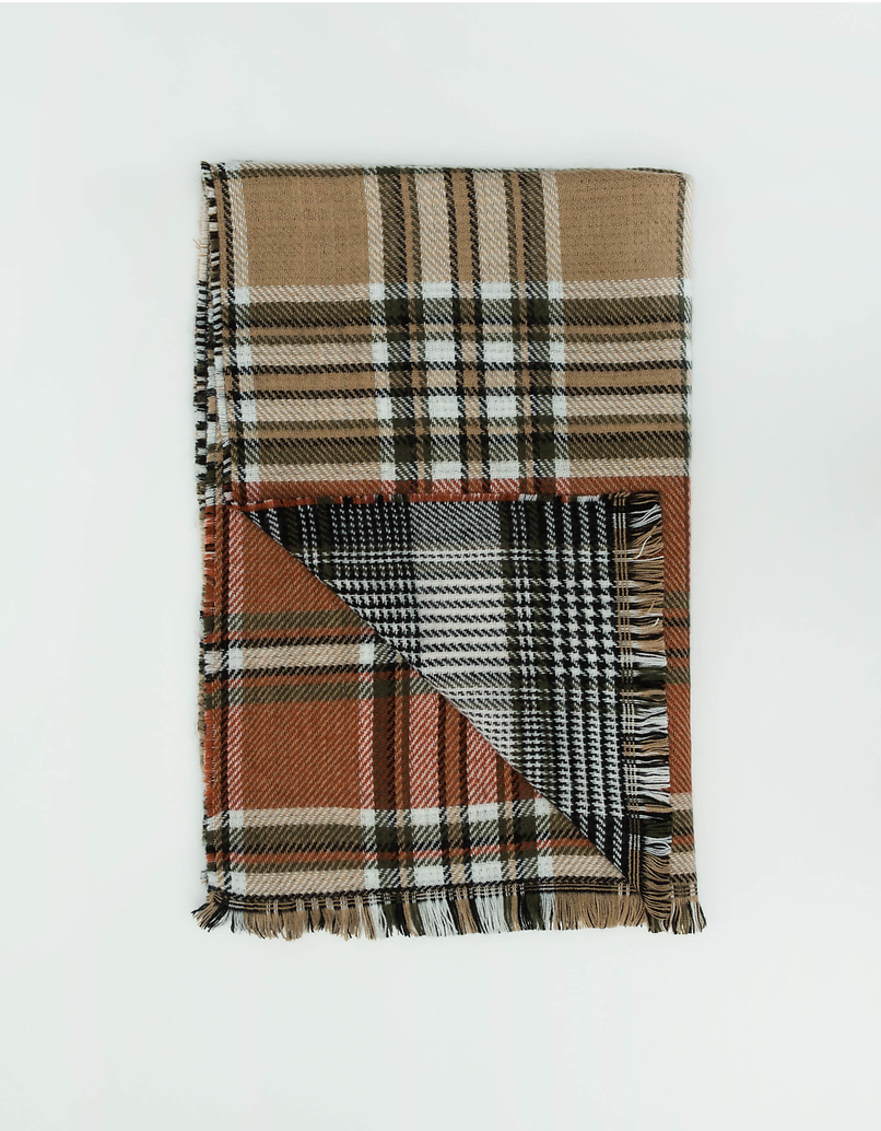 Colourblock Check Scarf
