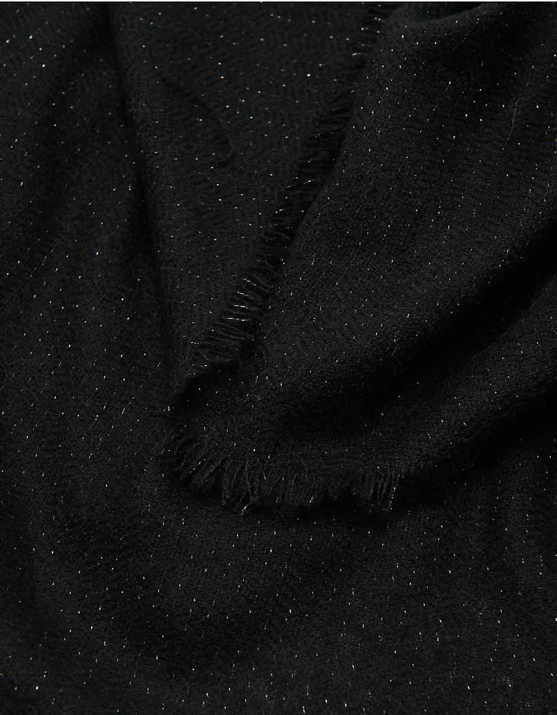Lurex Black Scarf