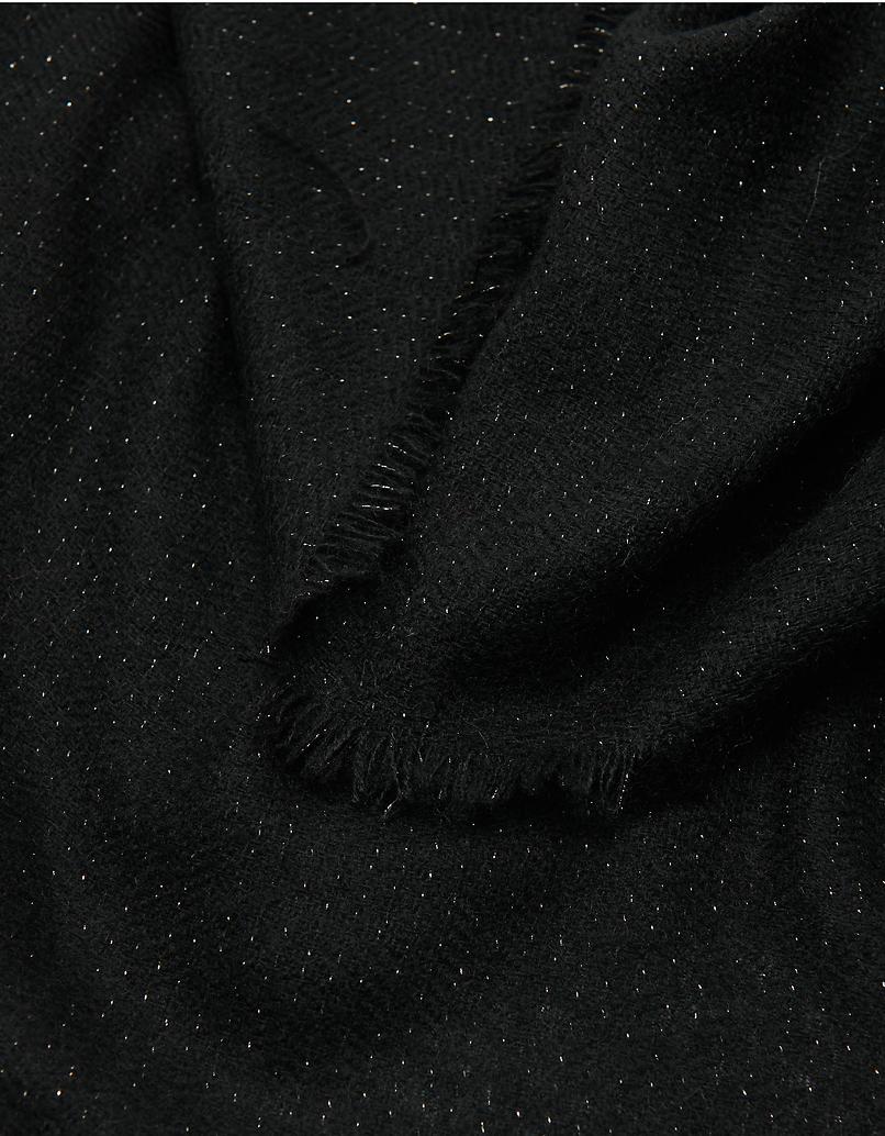Schwarzer Schal aus Lurex