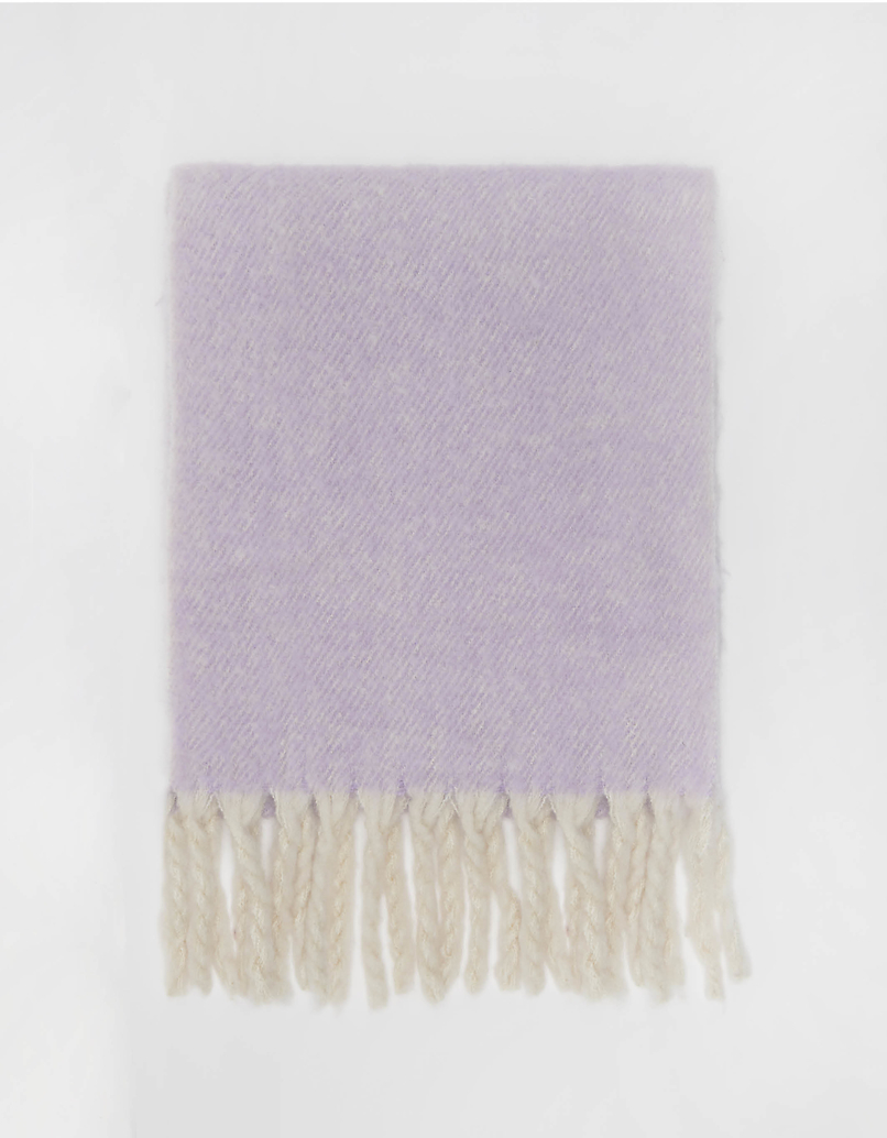 Purple Soft Touch Scarf with Tassels