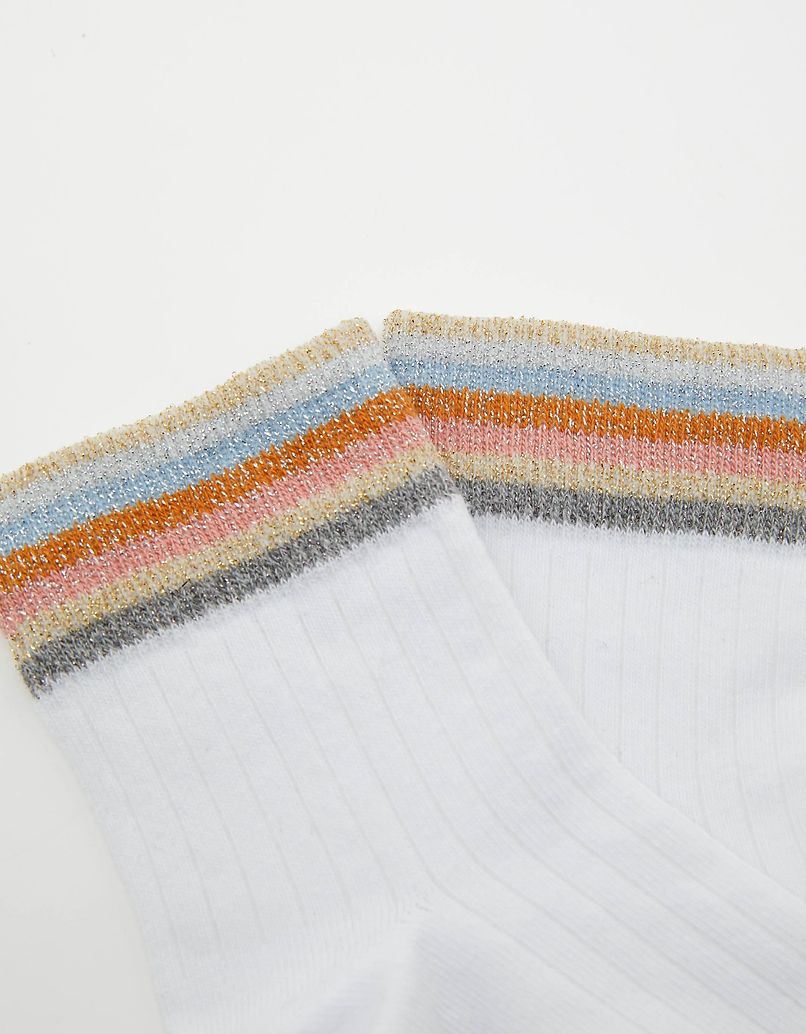 Lurex Rainbow Cuffs Socks