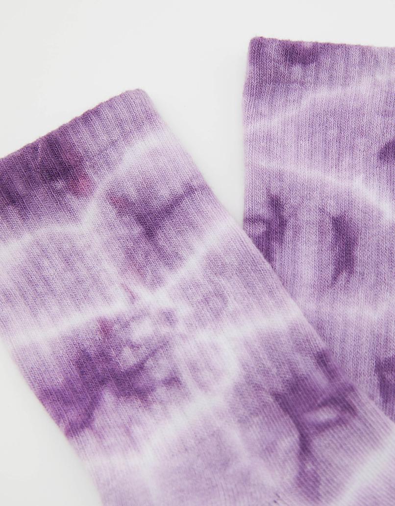 Tie & Dye Purple Socks