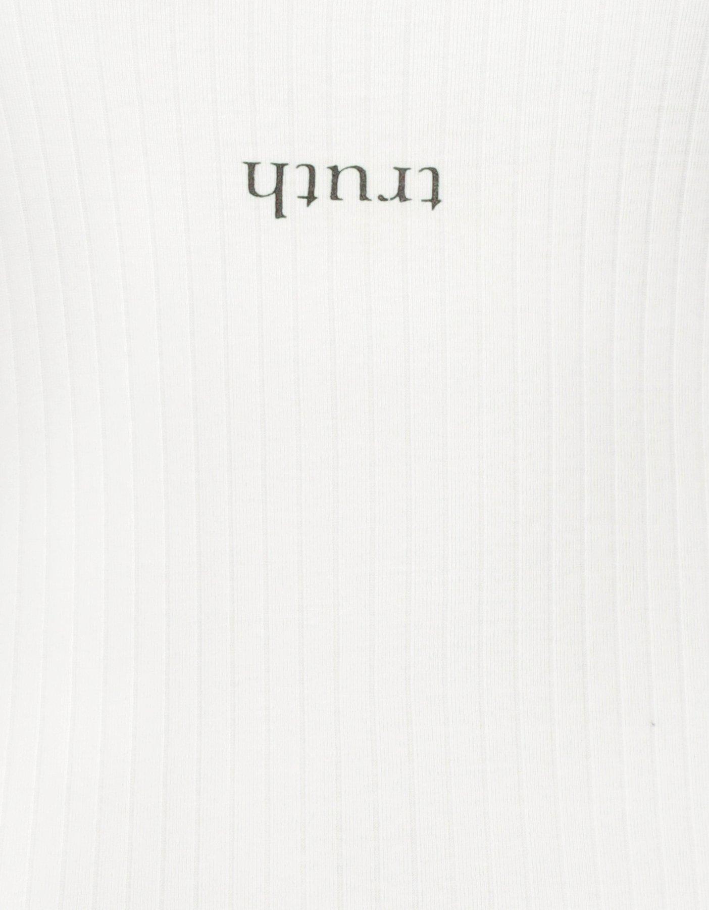 Białe body z napisem