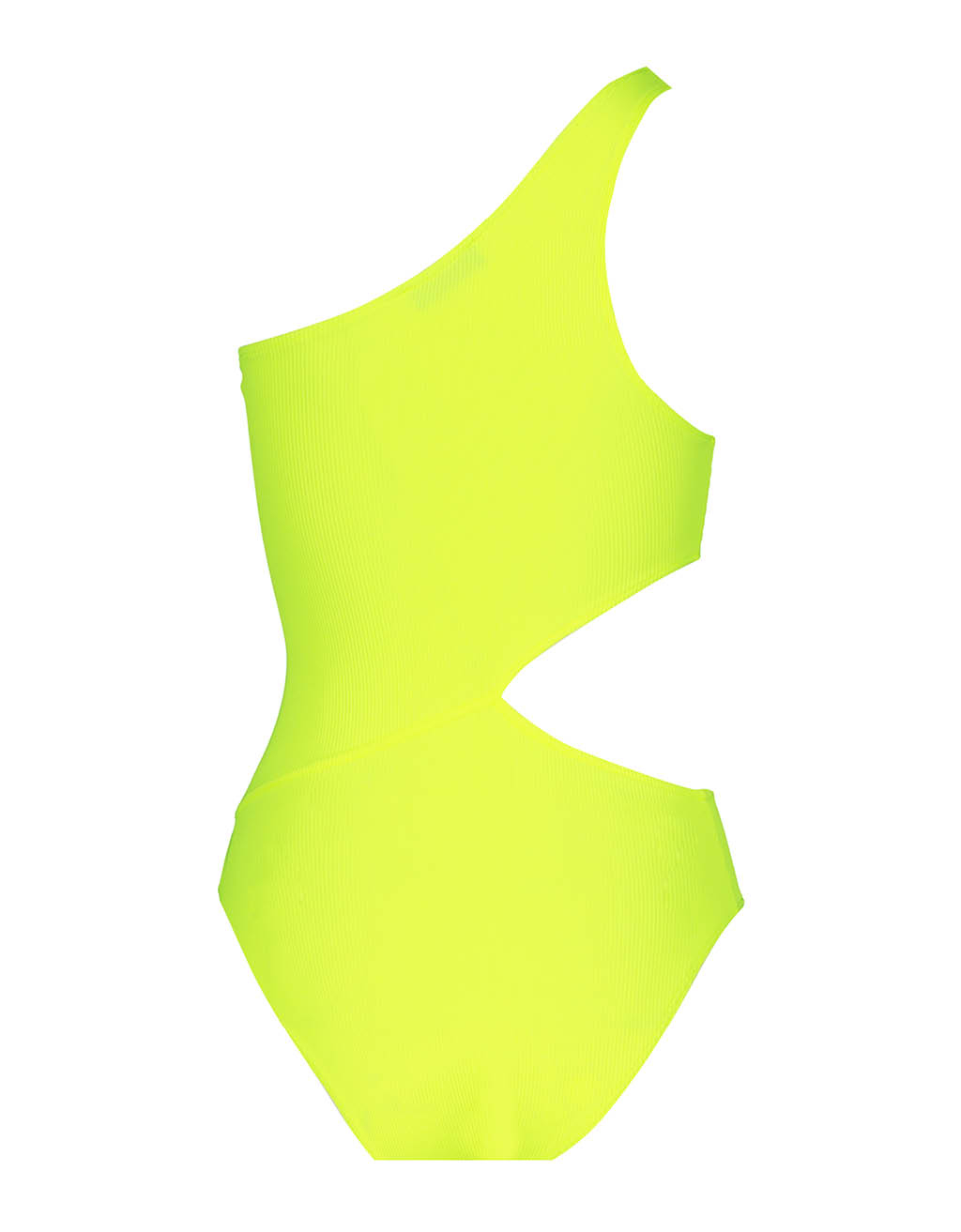 Neon Yellow Asymetric Bodysuit