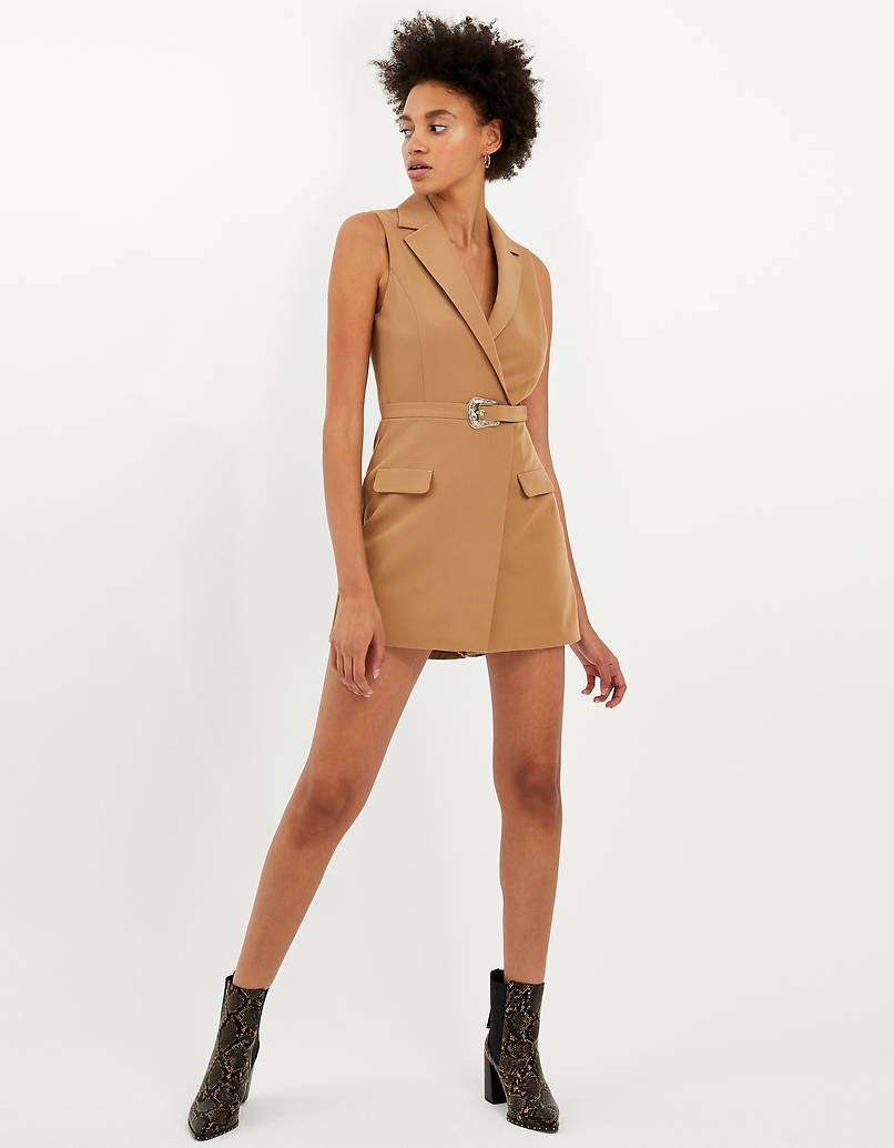Beiger Playsuit
