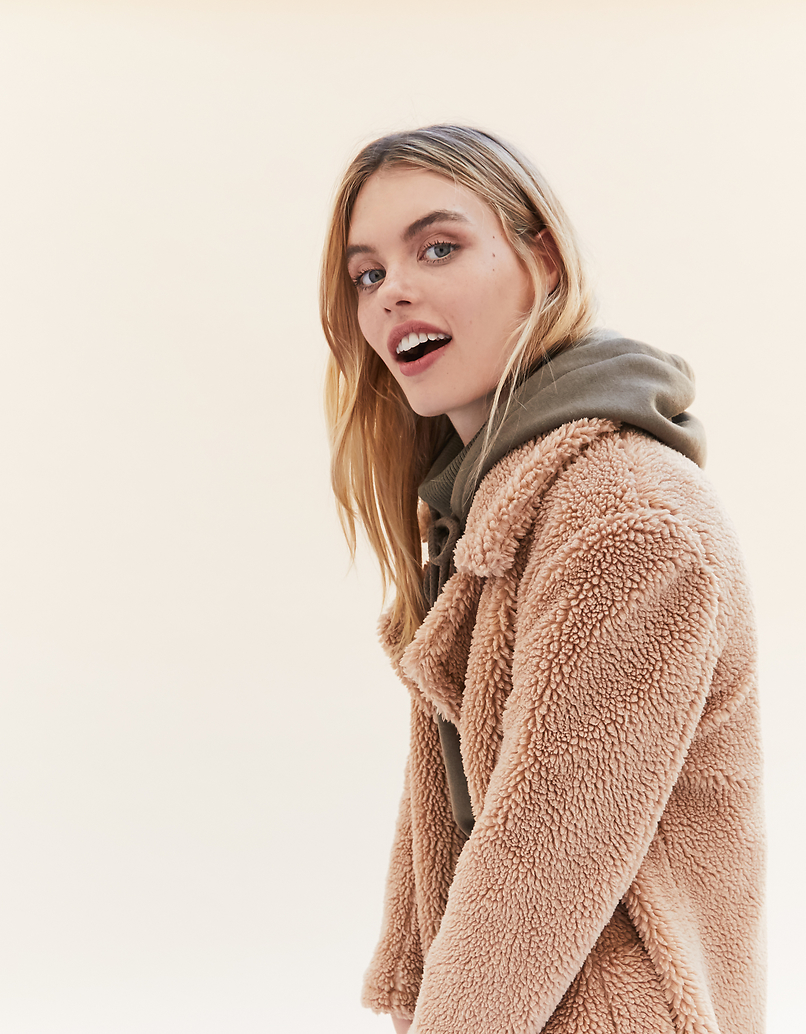 Beige Teddy Coat