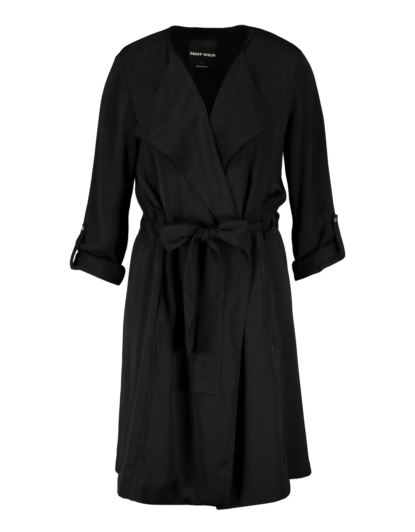 Schwarzer, langer Mantel