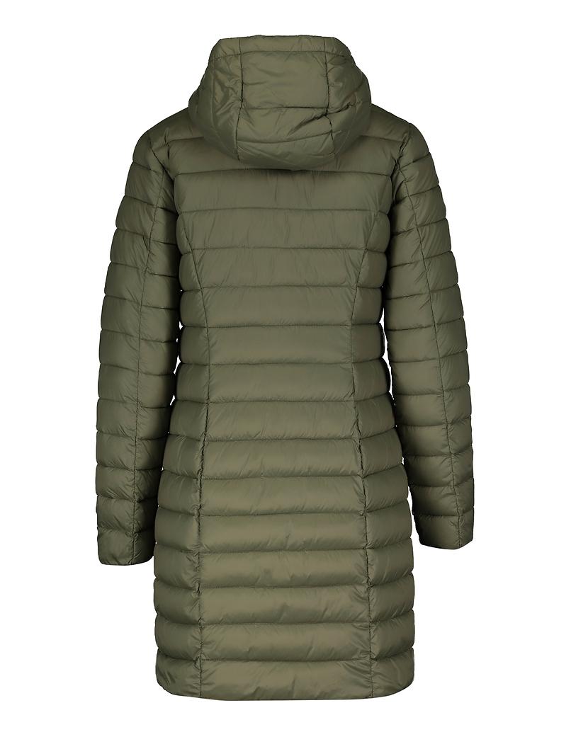 Khaki Long Puffer Coat