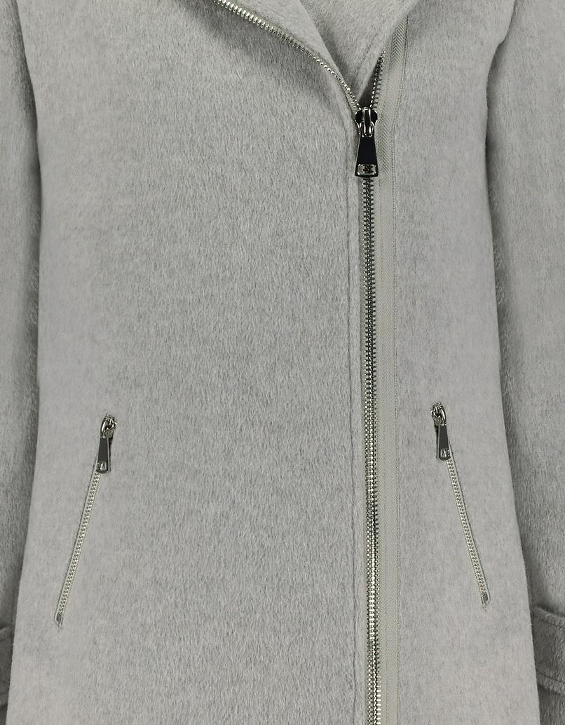 Gray Side Closure Coat