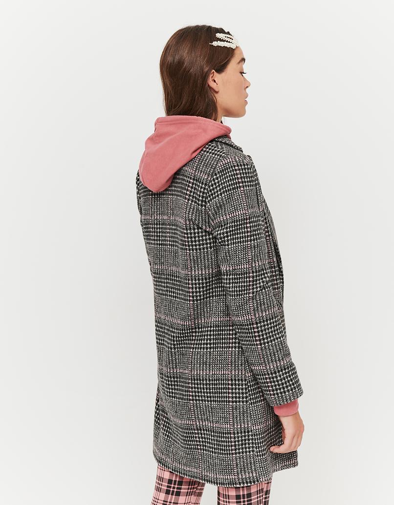 Straight fit Coat in Glen Plaid