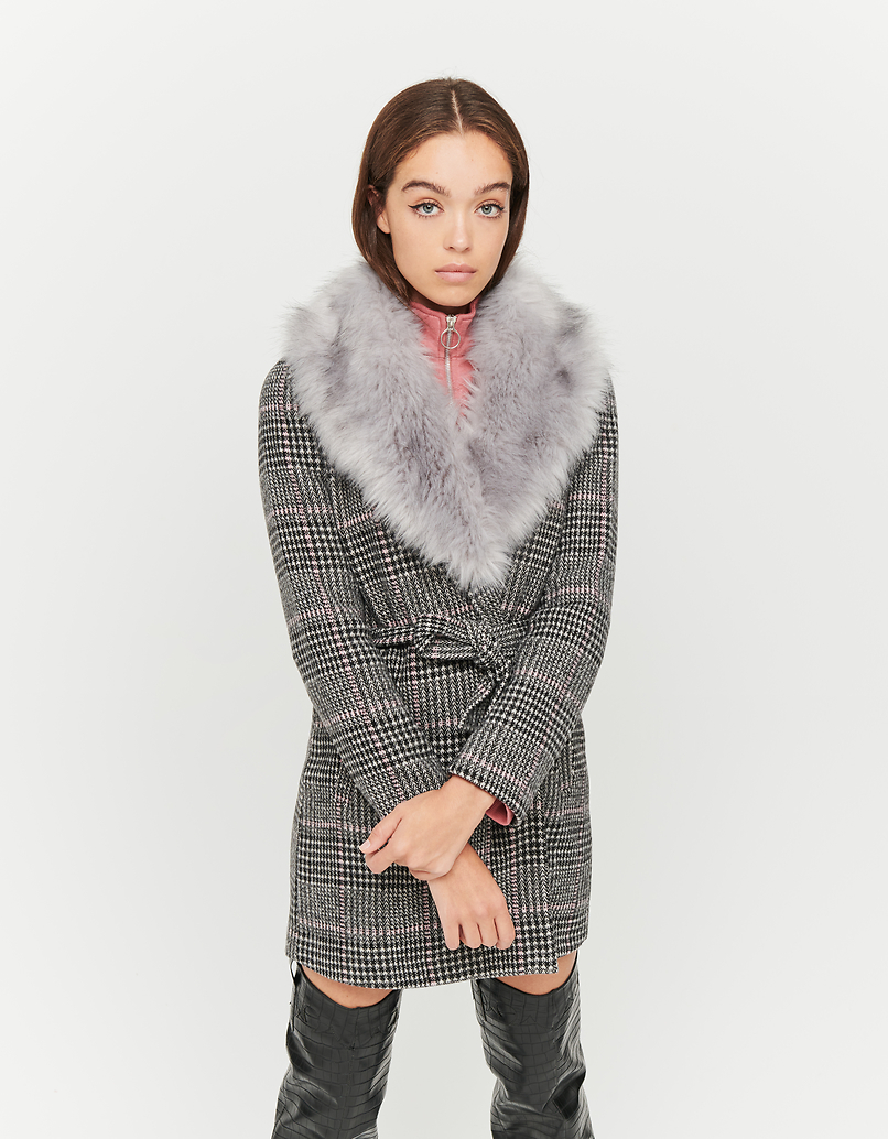 Coat with Removable Faux Fur