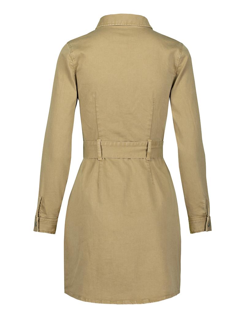 Beige Long Sleeves Bodycon Dress