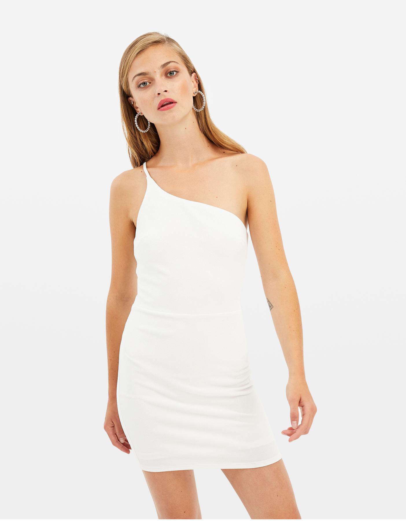 White Asymetric Dress