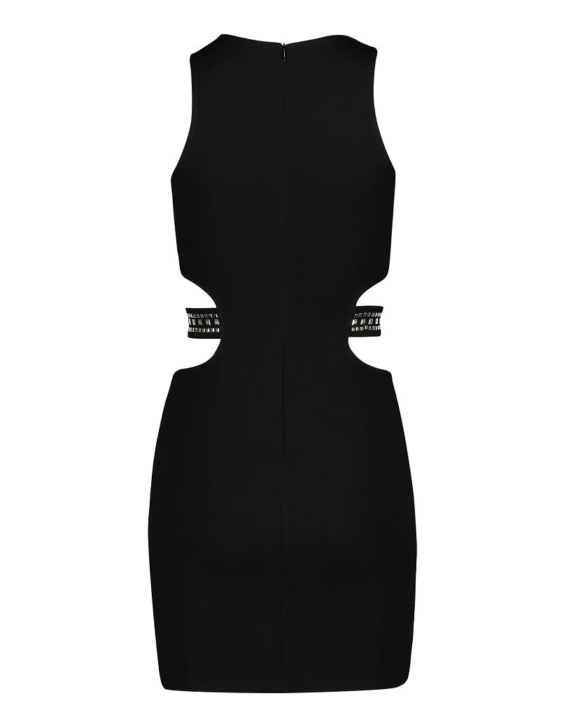 Robe Noire Moulante Cloutée