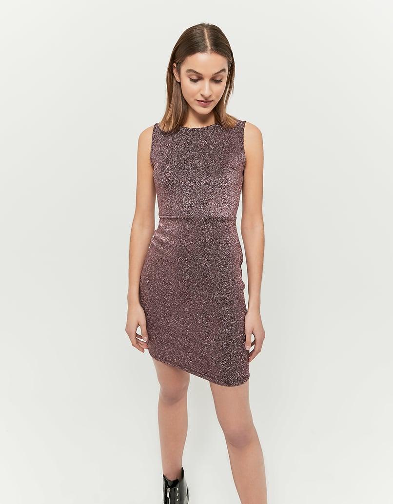 Pinkes Kleid aus Lurex