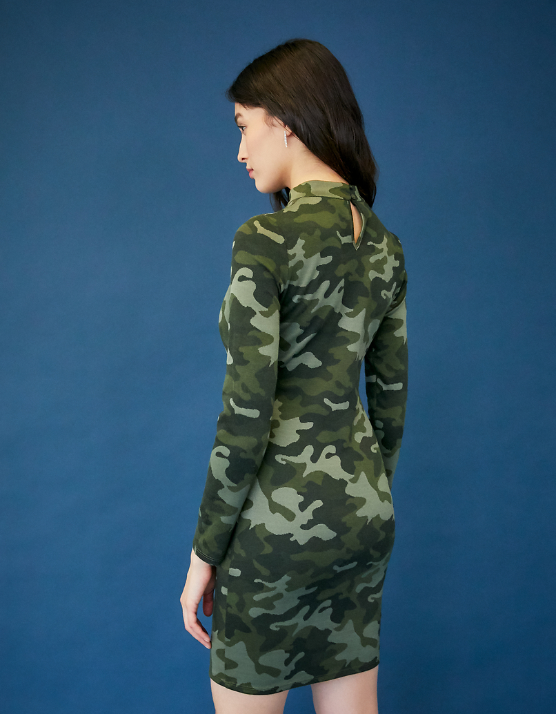 Camouflage Bodycon Dress