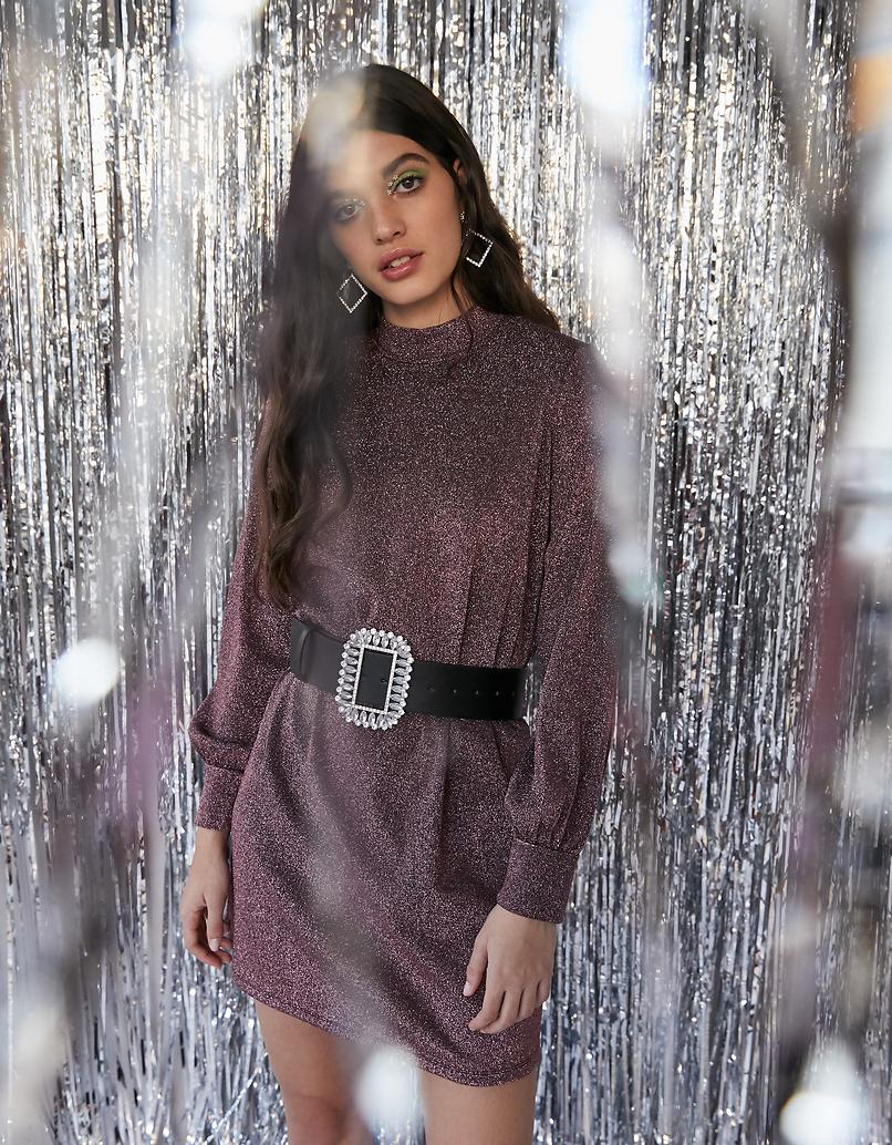 Mini Kleid aus Lurex